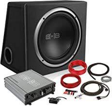 New Version 3 Belva 600 watt Complete Car Subwoofer Package Includes One (1) 12-inch Subwoofer in a Ported Box, Monoblock Amplifier, Amp Wire Kit [BPKG112V3]