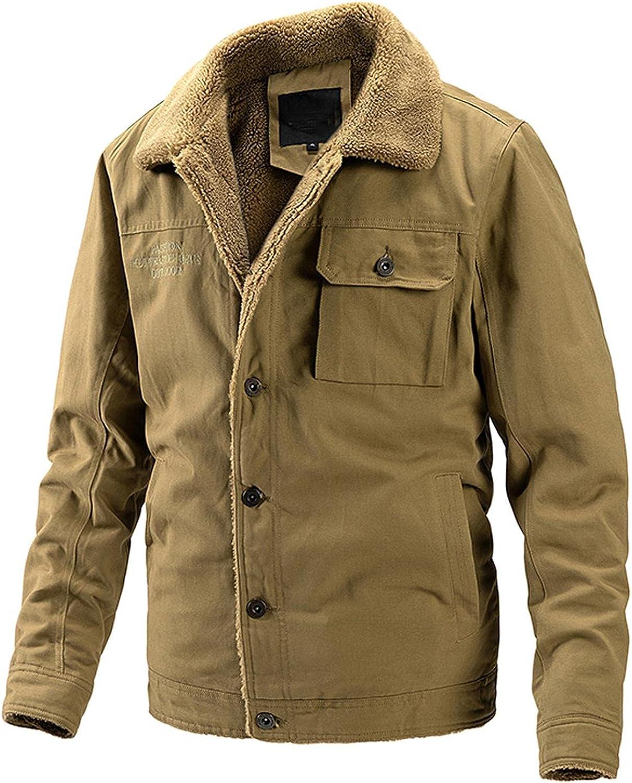Yuanjay Men's Fall Winter Jackets Casual Long Coat Max 55% OFF Warm Sleeve Selling rankings S