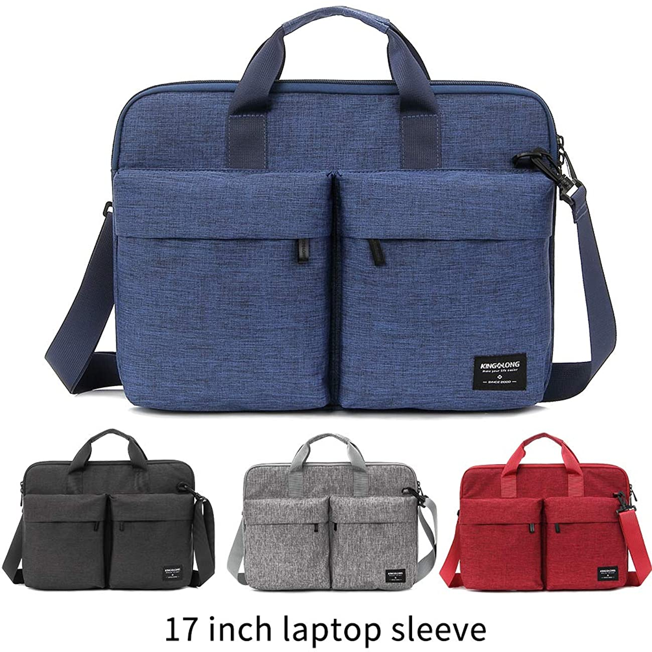 17.3 inch Laptop case Laptop Hand Bag for MacBook Pro/Dell Inspiron/MSI/HP Pavilion/Lenovo/Acer/Samsung Sony ASUS 17-17.3 inch Laptop by KINGLONG (BL)