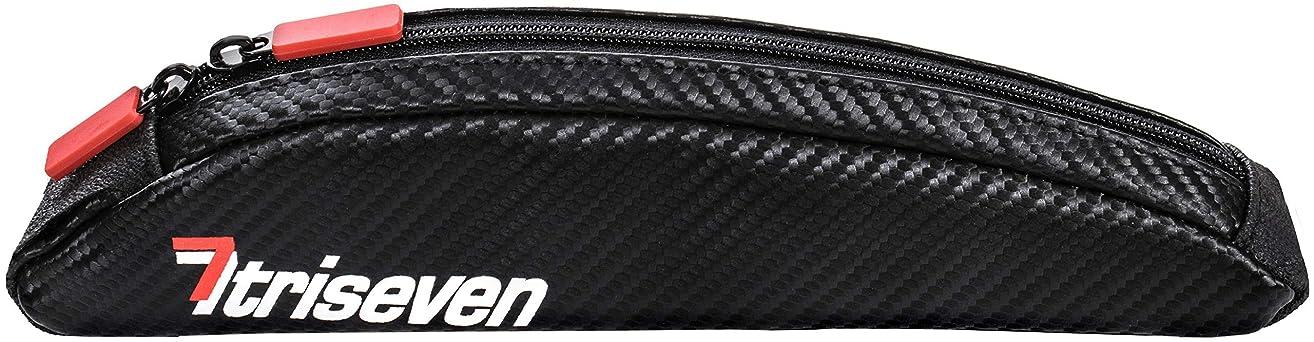 はしご読むお風呂(BLACK) - TriSeven Aero 10 Carbon Cycling Frame Bag - Lightweight Storage for Triathlons & MTB Holds 6 Gels, Nutrition, Pump, Keys, Tools and more