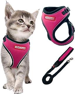 MUDINPET, imbracatura e guinzaglio per gatti a prova di camminata, imbracatura per animali di piccola taglia e media e gra...