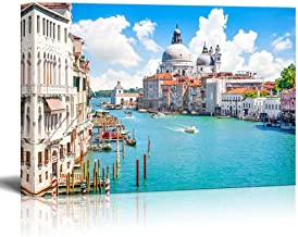 Canvas Prints Wall Art - Beautiful Landscape/Scenery Grand Canal with Basilica Di Santa Maria Della Salute, Venice, Italy | Modern Wall Decor Stretched Gallery Canvas Wrap Giclee 16