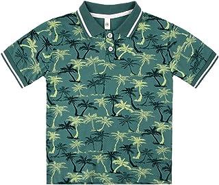 Little Boys Polo Shirt Cute Summer Tee Short Sleeve Uniform Tops
