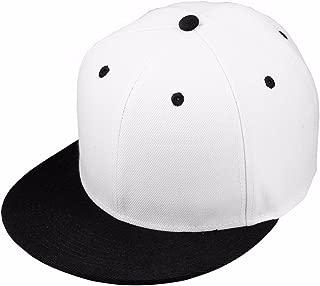 Women Men Snapback Hats,Patchwork Solid Color Flat Bill Baseball Cap