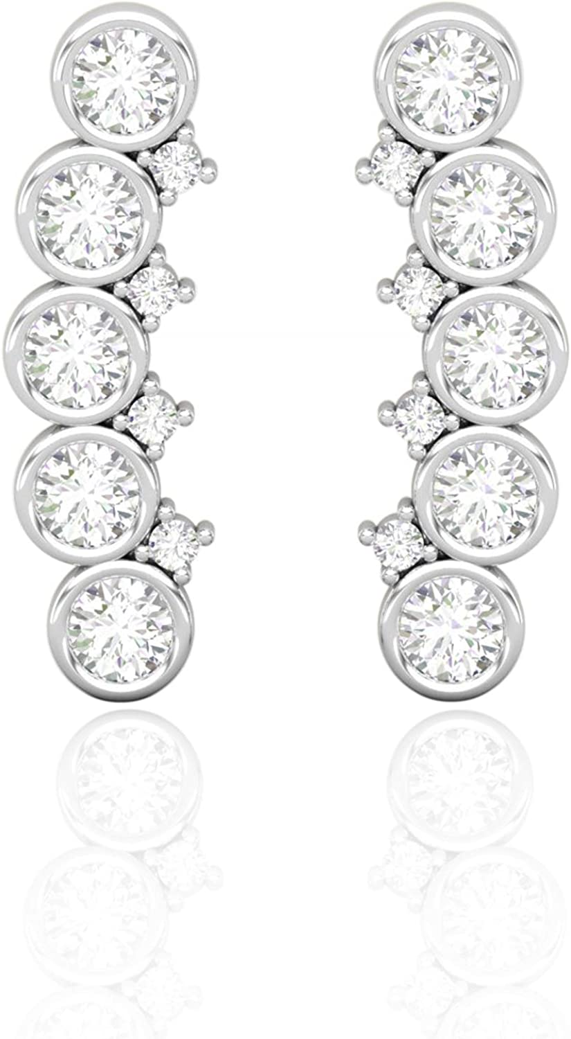 New Free Shipping Diamond Helix Piercing Earring Cu Weekly update Curved