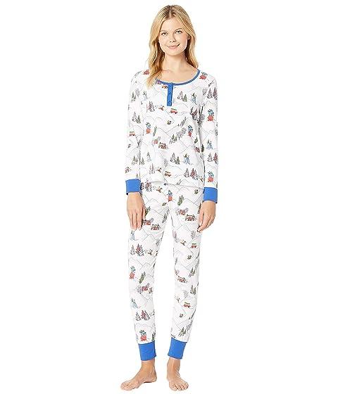 Bedhead  Long Sleeve Henley Pajama Set, PEANUTS WINTER HOLIDAY