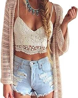 Romacci Women Crochet Tank Camisole Lace Vest Blouse Bralette Bra Crop Top