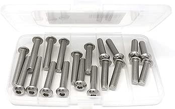 iExcell 20 Pcs M8 x 30mm/35mm/40mm/45mm/50mm Stainless Steel 304 Hex Socket Button Head Cap Screws Bolts Assortment, Fully Threaded