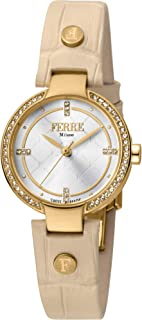 Ferre Milano Casual Watch For Women Analog Leather - fm1l139l0021