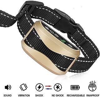 Bark Collar [2019 Upgrade Version] 7 Sensitivity Rechargeable Dog Barking Collar Beep/Vibration/Safe Shock Or No/Anti Bark Reflective Collar for Small Medium Large Dogs