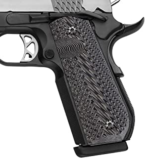 Cool Hand 1911 Full Size G10 Grips, Screws Included, Bobtail Round Butt Cut, Mag Release, Ambi Safety Cut, OPS Texture