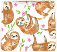 Fabric Editions Exclusive 36'' x 42'' Pre-Cut Sloths Flannel, White