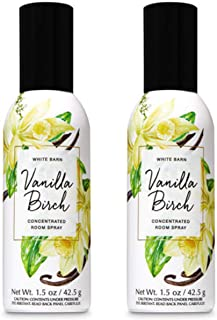 Bath and Body Works 2 Pack Vanilla Birch Room Spray 1.5 Oz.