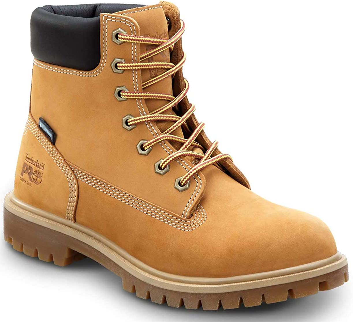 Timberland PRO 6IN Direct Attach Women's, Wheat, Steel Toe, EH, MaxTrax Slip Resistant, WP/Insulated Boot