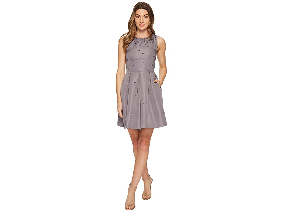 Ted Baker Milliea Embellished Skater Dress (Grey) Women