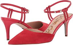 Lipstick Red Kid Suede Leather