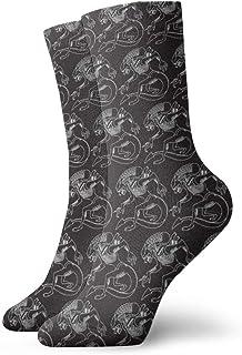 白黒Xenomorphの流行の多彩でファンキーなパターン化された綿の服のソックス11.8インチ