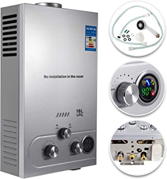 VEVOR 4.8 GPM Wall-Mounted Propane Tankless Water Heater