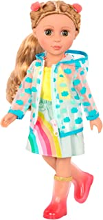Glitter Girls by Battat – 14-inch Doll Clothes - Smile! Rain Or Shine Outfit – Rainbow Dress, Hair Clips, Raincoat, and Ra...