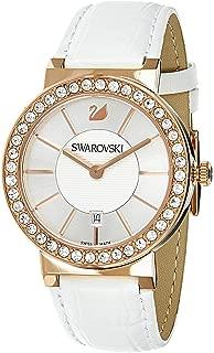 Swarovski Women's Pearl White Dial Leather Band Watch - 1094362