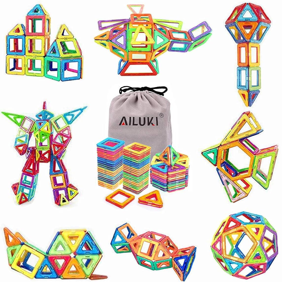 Magnetic Blocks,Ailuki 109 Pcs 3D Magnetic Building Blocks Set Magnet Tiles Educational Construction Kit for Children Creative Imagination Development Magnet Toys