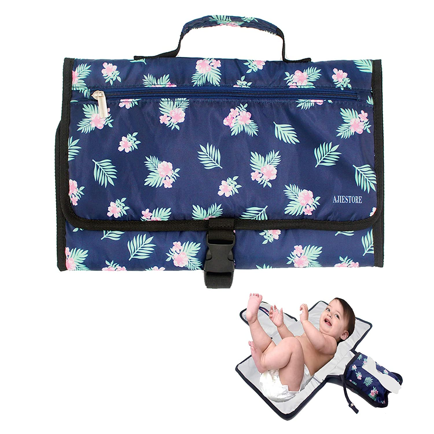 Portable Baby Diaper Changing Pad Waterproof, Portable Changing Pad for Diaper Bag with Pocket | Easy to Clean |Diaper Changing Mat