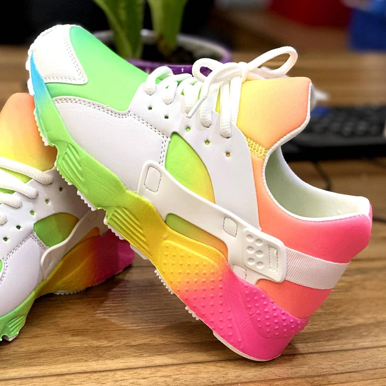 NC Women's Running Shoes Plus Size 34-43 Outdoor Jogging Color Sports Shoes Women's Light Training Sports Walking Shoes