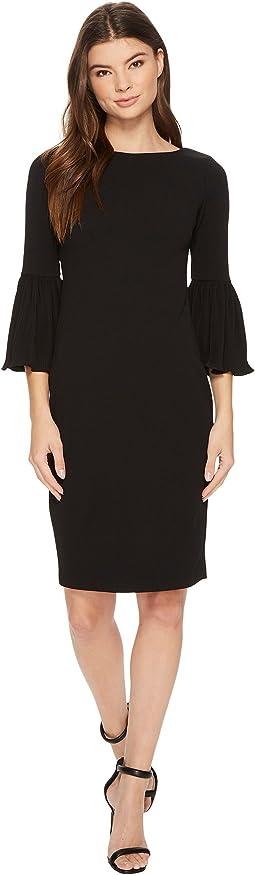Calvin Klein - Pleated Bell Sleeve Sheath CD7C18EH