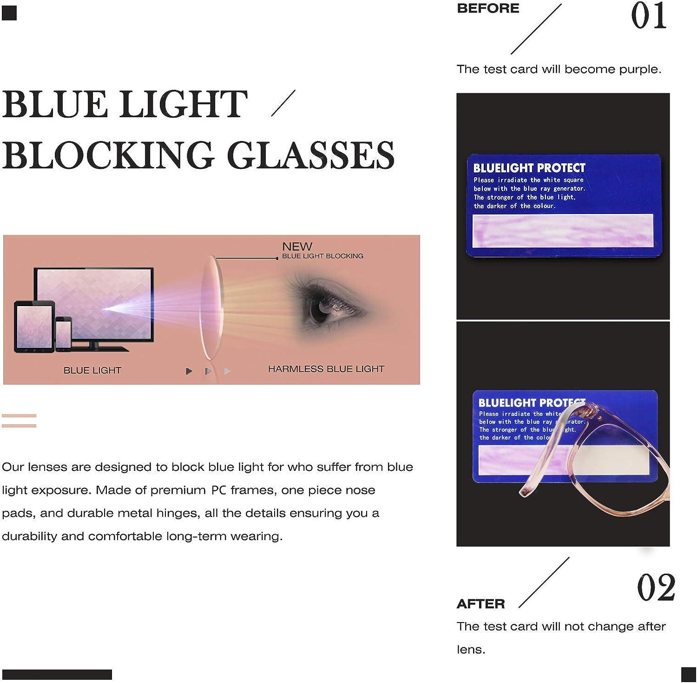 FONHCOO Blue Light Blocking Glasses Women Men,Computer Eyeglasses, Fashion Gaming Eyewear with Anti Eyestrain Headaches & UV Glare Flesh Pink