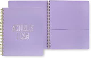 Kate Spade New York Large Spiral Notebook with 160 College Ruled Pages, Actually I Can