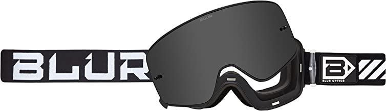 Blur B-50 Force Goggle with Magnetic Silver Mirror lens, Black