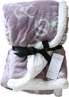 Re Mind Polyester Super Soft Small Blanket Warm Fluffy Throw Blanket for Couch Bed Sofa Sleeping Office Nap