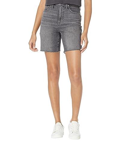 Madewell High-Rise Mid Length Denim Shorts in Brayton Wash