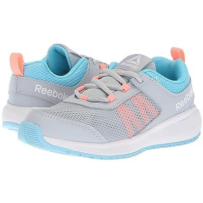 Reebok Kids Road Supreme (Little Kid/Big Kid) (Grey/Blue/Pink) Girls Shoes