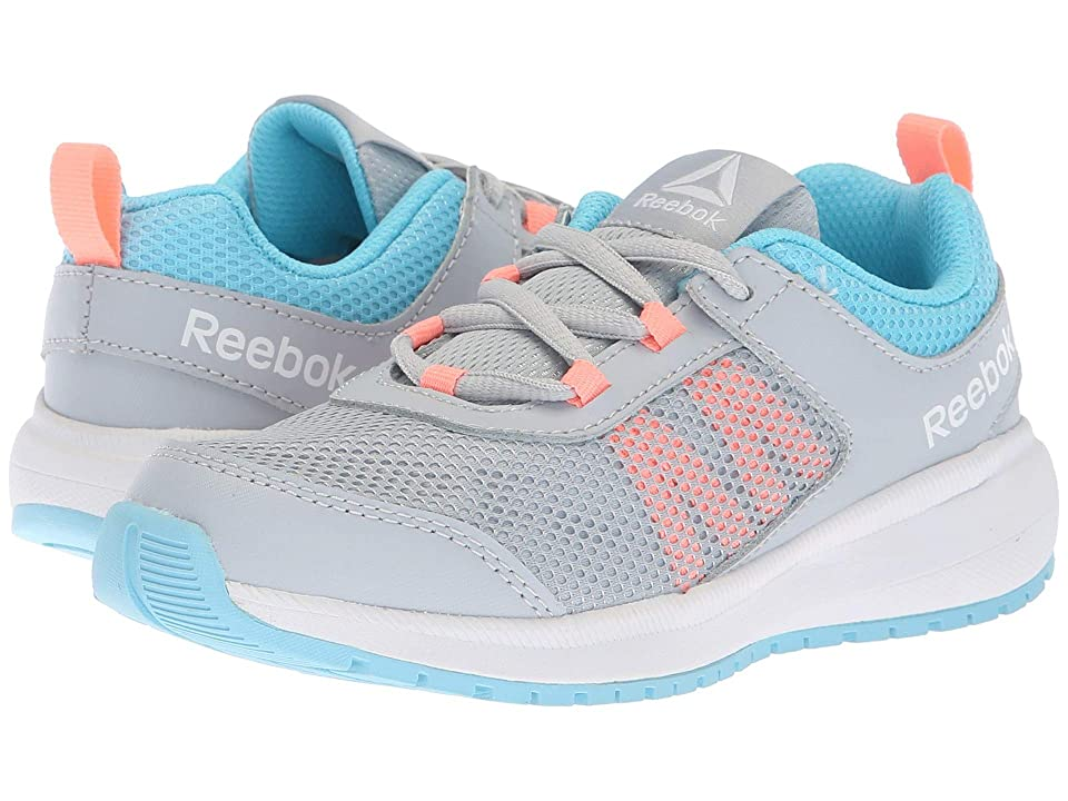 Reebok Kids Road Supreme (Little Kid/Big Kid) (Grey/Blue/Pink) Girls Shoes