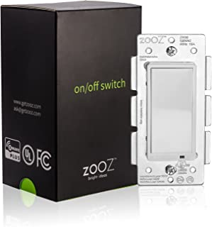 Zooz Z-Wave Plus On Off Wall Switch ZEN21 (White) VER. 3.0, Works with Existing Regular 3-Way Switch
