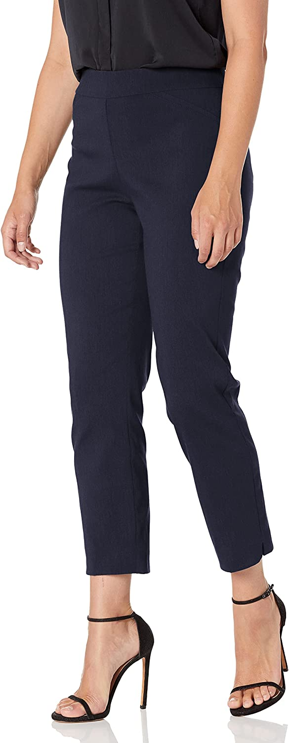 Briggs New York Women's Super Stretch Millennium Slimming Pull-on Ankle Pant