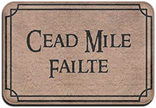 Cead Mile Failte Door Mats Non Slip Entry Way Doormat Living Room Mat Home Decor Area Rug23.6 * 15.7
