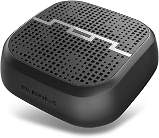 SOL REPUBLIC Punk Wireless Portable Bluetooth Speaker – Water & Sand Resistant, 60ft Range, Quick Bluetooth Pair, Ultra Portable, Aux In, Aux Out, Camera/Bike Mount, SOL-P1510BK Black
