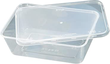 Kiip SLappeR 1000ml×25個(本体・kiip共通フタセット・1パック)【冷凍保存・電子レンジ・食洗機対応タッパー=おまとめ買い・食品保存・テイクアウト・業務用】