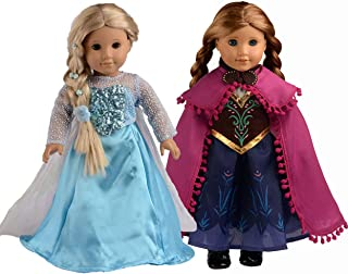 sweet dolly Doll Clothes Princess Dress Queen Costumes for 18 Inch American Girl Doll