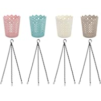 Uarepretty Storage Bins with Hanging Chains for Plants