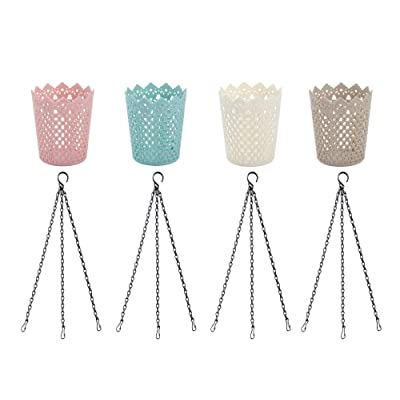 Uarepretty Storage Bins with Hanging Chains for...