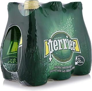 PERRIER Natural Sparkling Mineral Water Glass Bottle, Regular, 6 x 200 ml