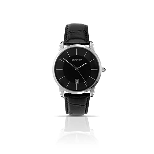044150481 Sekonda Men's Quartz Watch with Analogue Display and Leather Strap 3346