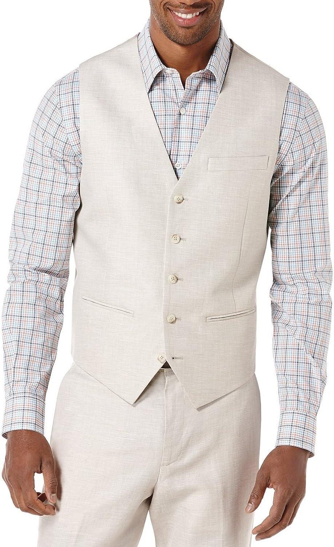 Perry Ellis mens Linen Suit Vest
