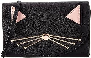 Kate Spade Jazz Things Up Cat Winni Black Leather Crossbody Clutch WLRU3102