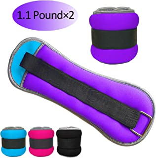 Vaupan Ankle/Wrist Weights, Small Leg Arm Hand Cuff Weights for Women Men Kids, Exercise Equipment with Adjustable Straps for Fitness Gym Dancing Walking Jogging Gymnastics Aerobics (1 Pair, 1lb 2lb)