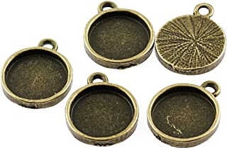 3x Ring Fassungen Rohlinge Cabochons mandala Schmuck Antik Bronze Fach 18mm