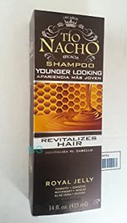 Tio Nacho Shampoo Younger Looking. Royal Jelly Revitalizes Hair 14 oz (3 Pack)